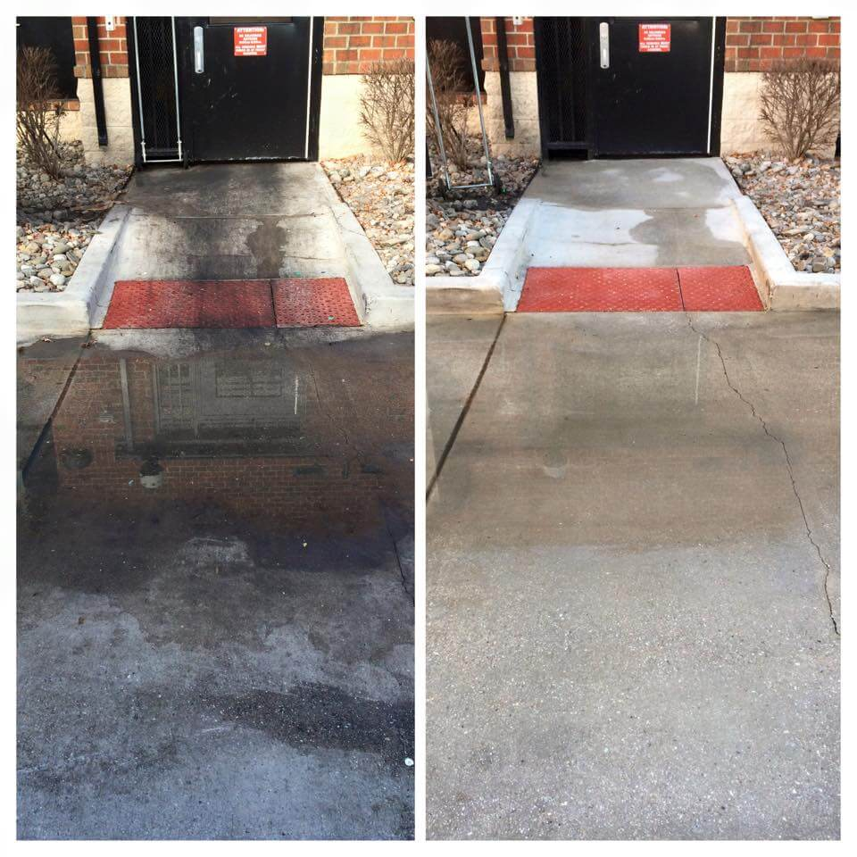 Cleaning Grease Concrete Maryland